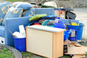 Eviction Trash on Curb